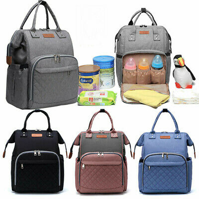 Baby Diaper Nappy Mummy Changing Bag Backpack Multi-Function Hospital Bag S3I5G