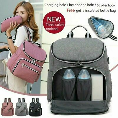 Baby Diaper Nappy Changing Mummy Hospital Bag Multifunctional Backpack C5M2Q