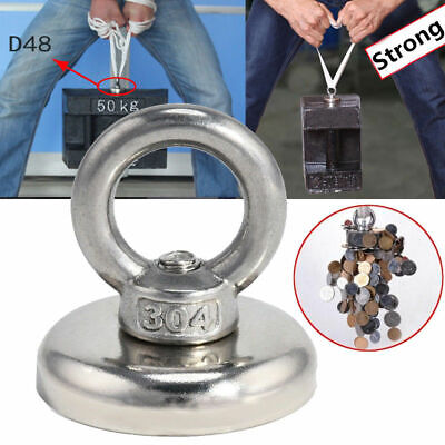 14-112KG Salvage Strong Recovery Magnet Neodymium Hook Treasure Hunting Fishing