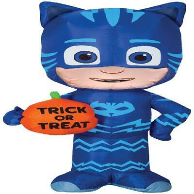 "Halloween Decoration PJ Mask Catboy Trick or Treat Airblown Lights up 42"" high"