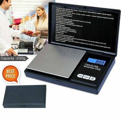 Digital Pocket Scales 0.01g - 200g Jewellery Weighing Electronic For Gold Gem CU