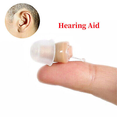 Small (CIC) Invisible Ear Hearing Aid Sound Amplifier Enhancer Adjustable Gift