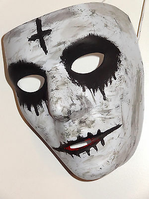 Halloween Handmade Custom Painted Mask The Purge Anarchy Unique Costume NEW