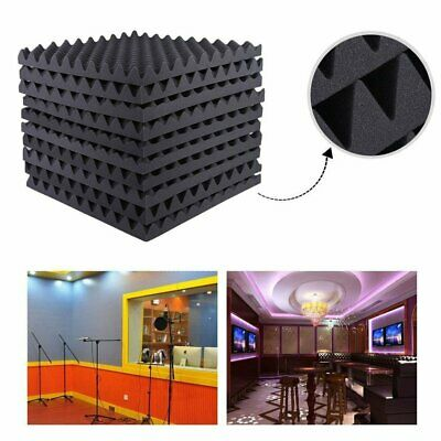 1/6X Studio Acoustic Foam Sound Proofing Absorbtion Tile Panel Wedge 50x50cm