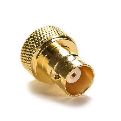 New Adapter SMA male plug to BNC female jack RF connector straight gold HGUK