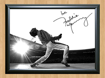 Freddie Mercury Queen Signed Autographed A4 Photo Poster Memorabilia cd shirt TV