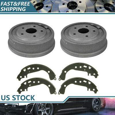 Centric Rear Brake Drums /& Brake Shoes 3PCS For Ford E-100 Econoline Ford Bronco
