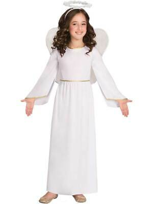 Child Nativity Angel Gabriel Fancy Dress Costume Christmas Girls Kids Outfit New