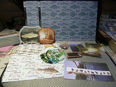 Fishing Card Making Kits, Toppers and Background Cards Kanban & Hunkydory etc.
