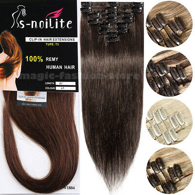 On Clearance Remy Indian Hair Clip In Human Hair Extensions Half Full Head Q109