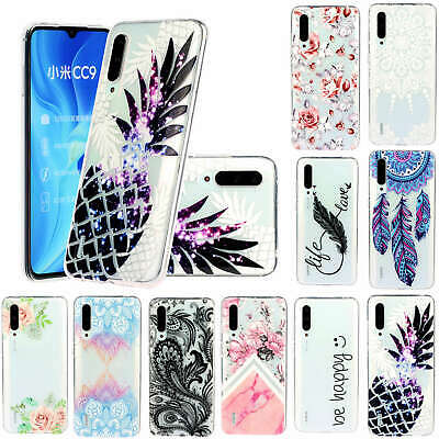 For Xiaomi Mi CC9 Redmi 7 Note 8 Pro 3D Painted Soft Silicone TPU Case Cover
