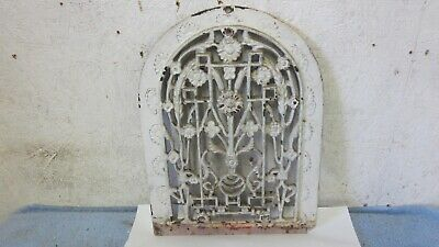 Antique Cast Iron Wall Arched Register Heat Hot Air Grate Floral Design