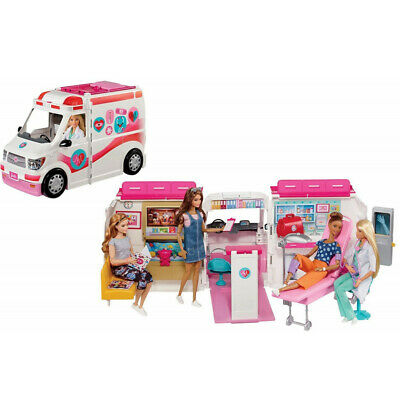 Offer L'Ambulance of Barbie Mattel