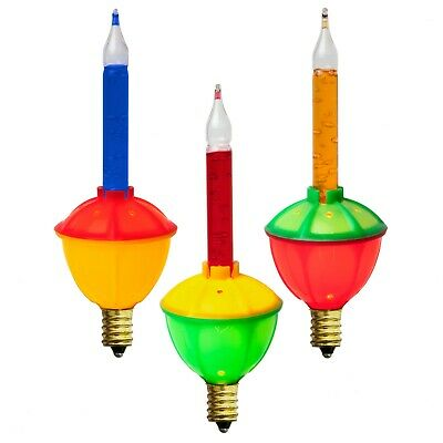 Christmas Bubble Lights Traditional Vintage Replacement Bulbs, 3-Pack Multicolor