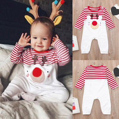 Newborn Toddler Kids Baby Girls Boy Bodysuit Romper Jumpsuit Outfit Clothes T5