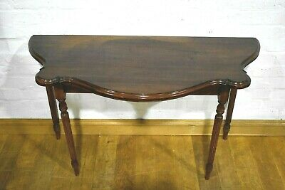 Antique style turn over top tea table console - desk - dining table
