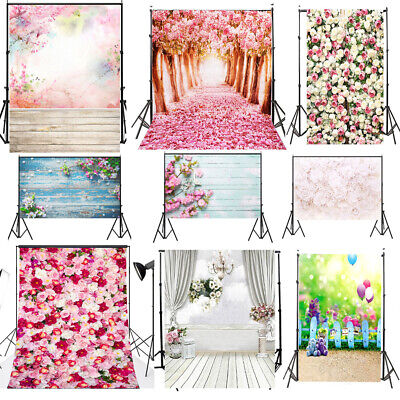 Flowers Cloth Photography Background Wedding Baby Prop Vinyl Background Backdrop
