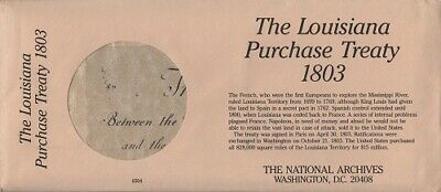 Louisiana Purchase Treaty, acte vente Louisiane, National Archives, reproduction