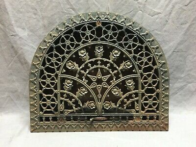 Antique Arched Top Heat Grate Wall Register Floral 11x14 Arch Old Vent  269-19J