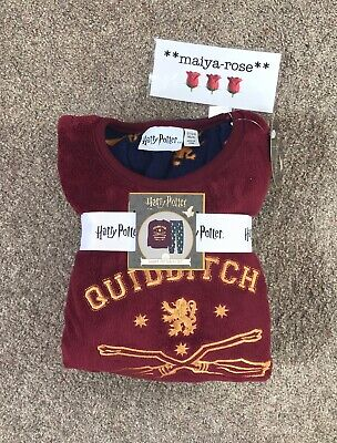 Primark Harry Potter Fleece Pyjamas PJ's Boys Girls Age 4-5 5-6 Years Gryffindor