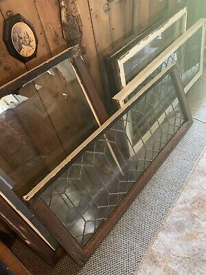 Vintage Lead Glass Windows 3 Total Antique  Old House 💯😇lead Glass Sold