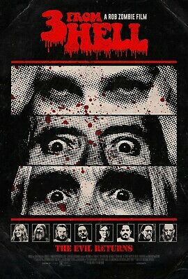 3 from Hell Poster Horror Movie Art Print Sequel to The Devil's Rejects Print