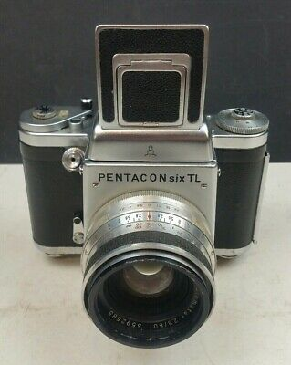 Pentacon Six TL Vintage Medium Format Film Camera Carl Zeiss Biometar 2.8 f=80mm