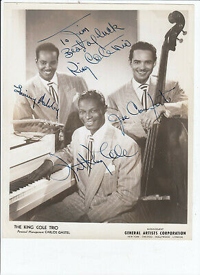 Nat King Cole Trio SIGNED AUTOGRAPHED 8x10 glossy photo RARE