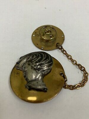 Vintage Brass & Silver Metal Snappette - A Young Boy Button Closure Fastener