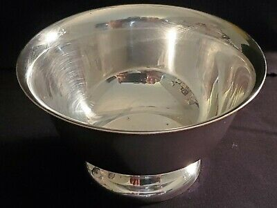 Vintage 1965 Reed&Barton SilverPlate Small Footed Candy Dish Paul Revere Design
