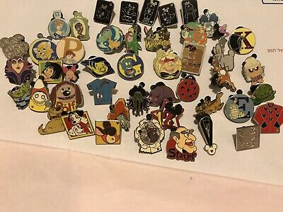 Huge Disney Trading Pin Lot Pins Hidden Mickey Cast Lanyard Series