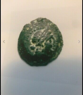 Ancient Greek Cleopatra VII Authentic Small Bronze Coin with COA