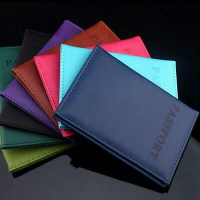 Travel Utility PU Leather Purse Journey Wallet ID Card Cover Passport Holder
