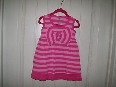 Hudson Baby Girls Pink Striped Dress With Large Waist Bow Size 18 Months