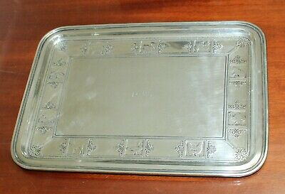 C. 1929 Antique Sterling Silver Tray by Tiffany & Co 20151A Makers 9117