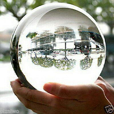 Asian Rare Natural Quartz Clear Magic Crystal Healing Ball Sphere 100mm+Stand %
