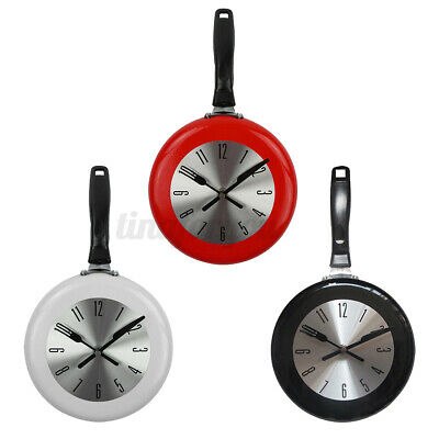 8'' Home Decor Kitchen Wall Clock Frying Pan Small Novelty Design