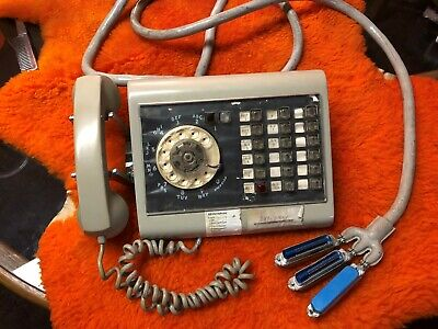 1969 Western Electric grey call director 636 telephone 12 button great shape!