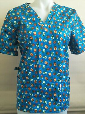 Xmas scrubs size 10 Unisex, christmas, holidays, designs, Made in Victoria