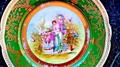 Antique Austrian Imperial Crown China Hand Painted Plate