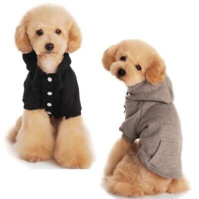 Pet Winter Coat Cotton Dog Hoodie Jacket Sweater Puppy Clothes with Pocket NEW