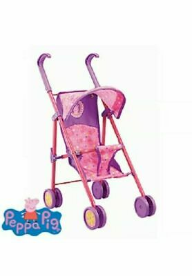 Girls gift Peppa Pig pink  Kids Pram Buggy Stroller For Baby Dolls Toy pushcahir