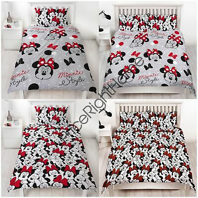 Minnie Mouse Cute Rotary Duvet Cover And Pillowcase Set - Single And Double