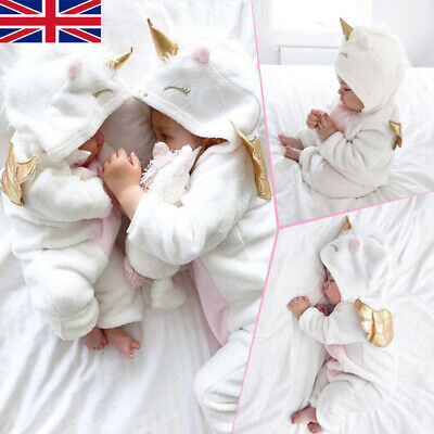 3D Toddler Newborn Baby Girl Flannel Romper Jumpsuit Outfits Warm Clothes Winter