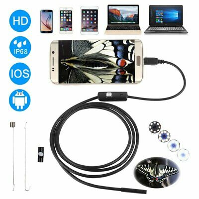 NEW 5.5/7mm USB Endoscope Borescope Inspection Tube Camera For Android Mobile CU