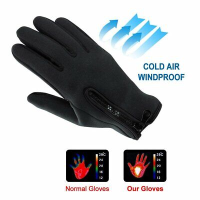 Touch Screen Thermal Driving Gloves Waterproof Motorcycle Cycling Riding CU