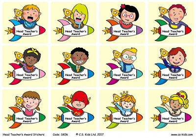 C.S. Kids Head Teacher's Award Stickers (Pack of 72)