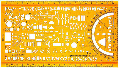 Electrical and Electronic Installation Symbols Drawing Template Stencil –...
