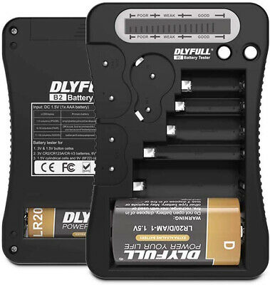 Dlyfull Universal Battery Tester with LCD Display, Multi Purpose Black