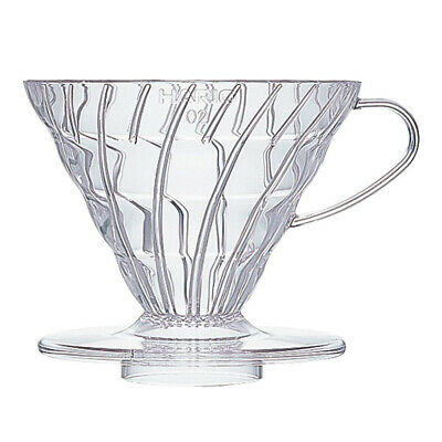 Hario VD-02T 1-Piece Plastic Coffee Dripper, Clear Size 02,